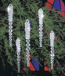 The Beadery Sparkling Icicle Ornaments Kit - Supplies to Make 30 Ornaments ~ NEW