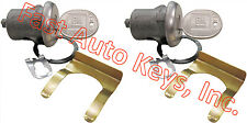 NEW PAIR BUICK GM CHEVY OEM DOOR LOCKS SET KEYED CYLINDER W/2 OEM GM LOGO KEYS