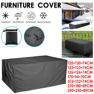 Heavy Duty Garden Patio Furniture Cover Covers Rattan Table Cube Seat Outdoor UK