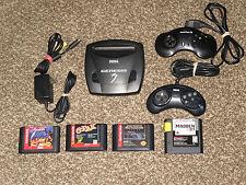 Works Great! Sega Genesis Model 3 III Black Console Bundle Sonic G Axe Shinobi
