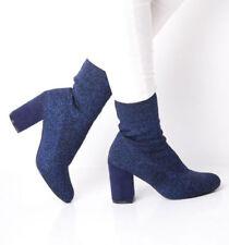 Stivali e stivaletti da donna blu senza marca con da infilare