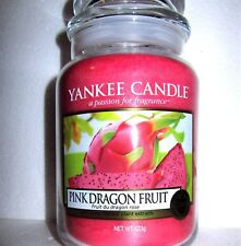 """Yankee Candle """"PINK DRAGON FRUIT"""" Fruit ~ Large 22 oz.~European~WHITE LABEL~NEW"""