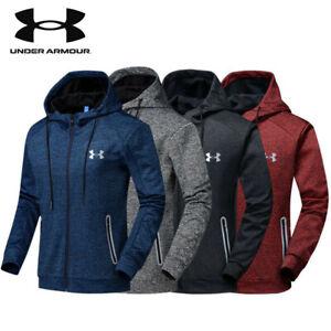 Men's Under Armour Autumn Winter Hoodie Hooded Sweatshirt Coat Jacket Outwear UK