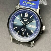 SEIKO 5 SNKP17 SNKP17J1 21 Jewels  Blue Dial Silver Stainless Steel Japan Made