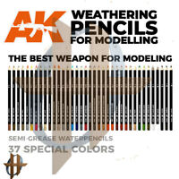 AK Interactive Weathering Pencils Modeling Accessory Free Shipping $35+