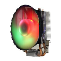 Mute Cooler Heat Sink with 120mm LED Fan Dual Copper Pipes for PC CPU #2