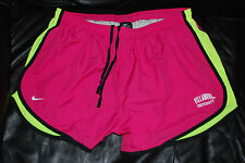 NEW Nike DriFit Villanova University Neon Pink & Yellow Fitness Shorts (X-Large)