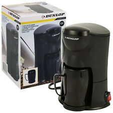 Dunlop 12v Travel Coffee Machine Maker Cigarette Plug Car Van Truck Camper Auto