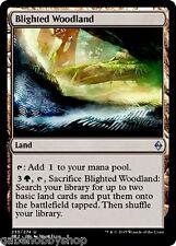 BLIGHTED WOODLAND Battle For Zendikar Magic MTG cards (GH)