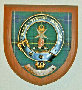 Clan Henderson wall plaque shield crest scottish Scotland tartan