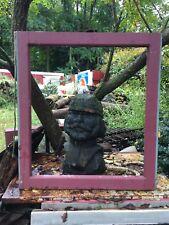 Wooden  Window sash country farm Garden Art  Project 28.5 x 31.5 frame NO GLASS