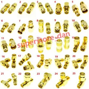 SMA RP-SMA Male Female To SMA RPSMA Male Female RF Connector Adapter kit