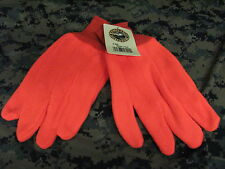 Orange hunting whitewater outdoors gloves 1 size 100% poly fleece gloves safety