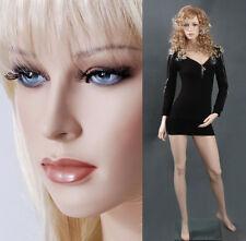 Female mannequin displays leggings yoga pants, hand made manikin -Gina+1wig