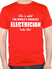 WORLDS GREATEST ELECTRICIAN - Electrics / Sparky / Novelty Themed Mens T-Shirt