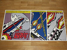 "3x Roy Lichtenstein"" As I opened fire ""Stedelijk Poster Juego Tríptico Arte Pop"