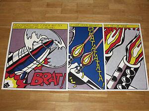 """3 X Roy Lichtenstein """" As I Opened Fire """" Stedelijk Poster Set Triptychon Popart"""