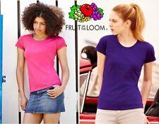 Value Manica corta Donna Girocollo Fruit of The Loom Maglietta Women T-shirt #