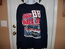Nascar Dale Jr #88 National Guard Navy Blue Long Sleeve Tshirt Size 3X Men's NEW