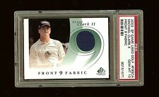 MICHAEL CLARK II 2002 SP GAME USED GOLF FRONT 9 FABRIC SHIRT PSA 10 #0751