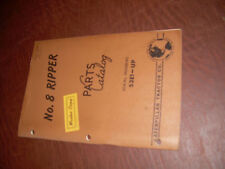 CATERPILLAR CAT D8 RIPPER NO. 8 TRACTOR PARTS CATALOG