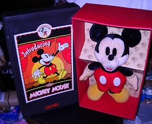 #4239 NRFB GUND Antique Mickey Mouse Plush Style No 7230