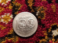 Canada 1974 One Dollar Coin 100th Anniversary Of The City Of Winnipeg.