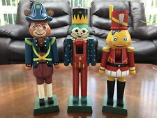 Three Animal Nutcrackers, 13� wooden