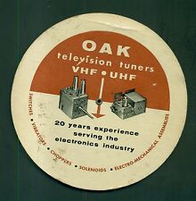 1950's Oak Mfg. Co. Television Tuners VHF/UHF Slide Rule and db Guide-Chicago,IL