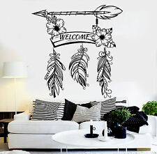 Vinyl Wall Decal Welcome Feathers Home Decoration Room Stickers Mural (ig4590)