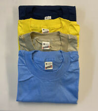 Vtg Screen Stars T-Shirts Blank Plain Soft Thin Med Made in Usa Lot of 4 Shirts