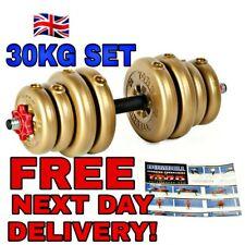 30KG YORK Adjustable Vinyl Dumbbell Set Weight Plates Included (2 x 15KG)