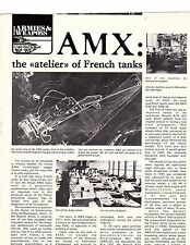magazine article  history of AMX French  Tank Vintage with 19 pictures