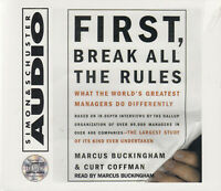First Break All The Rules Marcus Buckinham 3CD Audio Book NEW Management Study