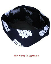 Sushi chef hat, sushi chef skull hat, Japanese restaurant chef hat, chef hat New