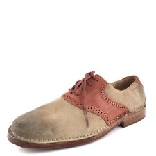 Sebago Taupe Leather Suede Oxford Formal Derby Dress Shoes Men's Size 7 D*