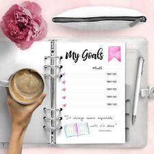 Goals Printable Planner Refill Agenda Digital Download Filofax Inserts Kikki.k