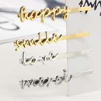 Fashion Gold Silver Letter Hair Clip Bobby Pin Hairpin Hair Accessory Jewelry