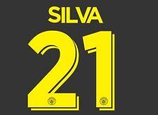 Silva 21 Manchester City 2016-2017 Cup Nameset for Away Football Shirt