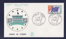 enveloppe 1er jour  conseil de l' Europe    Strasbourg    1971
