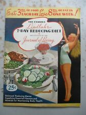 Famous Lindlahr 7-Day Reducing Diet Booklet Instructions Promo Etc. 1936