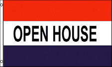 'OPEN HOUSE' Viewing Sign Advertising POS 5'x3' Flag !