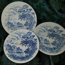 Vintage Enoch Wedgwood Tunstall Countryside pattern Small bowl and 2 plates