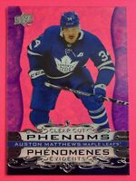 2020-21 UD Tim Hortons Clear Cut Phenoms #CC-7 Auston Matthews Toronto Acetate