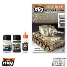Ammo of Mig WINTER CAMO SET Weathering Set 7411