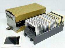 30 Gepe 60x60 Slide Mounts Med Format w/ 1960's Negatives 6x6 Glass Rollei Tray