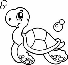 Large Turtle Wall Stickers Kids Room Decor Art Vinyl Decal OZ Bathroom toilet