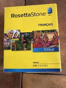 Rosetta Stone French Level 1-5  for Mac and PC.