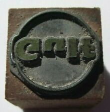 GULF GAS STATION AND OIL   ANTIQUE WOOD LETTER PRESS PRINT BLOCK