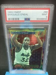 1993-94 Shaquille O'neal Topps Finest #99 PSA Graded 9 Mint